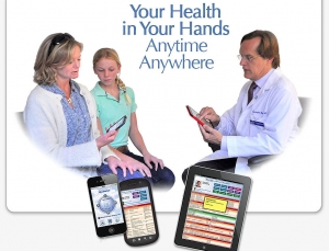 iBlueButton medical app is a portable health record for Medicare, Veterans & Medicaid patients
