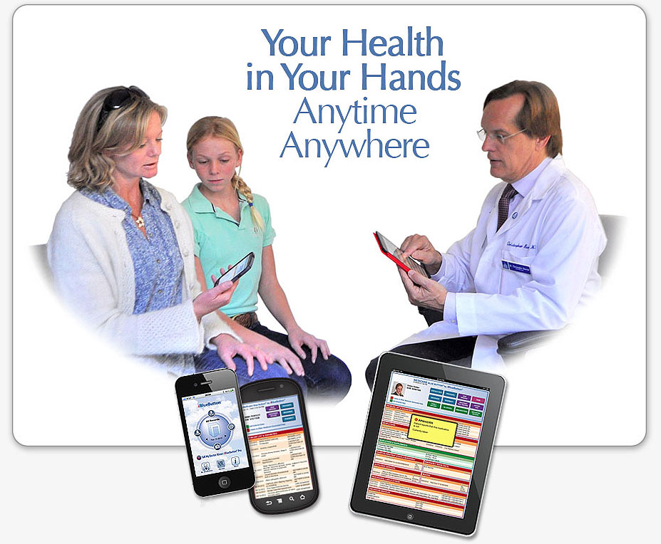 iBlueButton iPhone and Android medical app is a portable health record for Medicare, Veterans and Medicaid patients