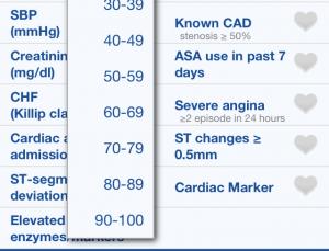 NSTEMI Risks app calculates myocardial infarction risk of your patients