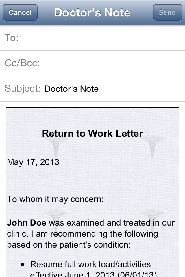 doctor u2019s note iphone and ipad medical app review