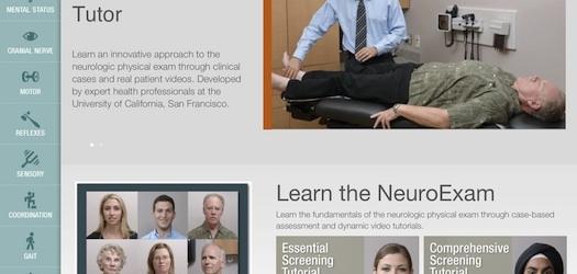 UCSF NeuroExam Tutor medical app provides a guide to neurological assessments