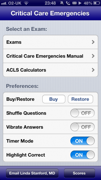 Critical Care Emergencies 2013 iPhone and iPad medical app