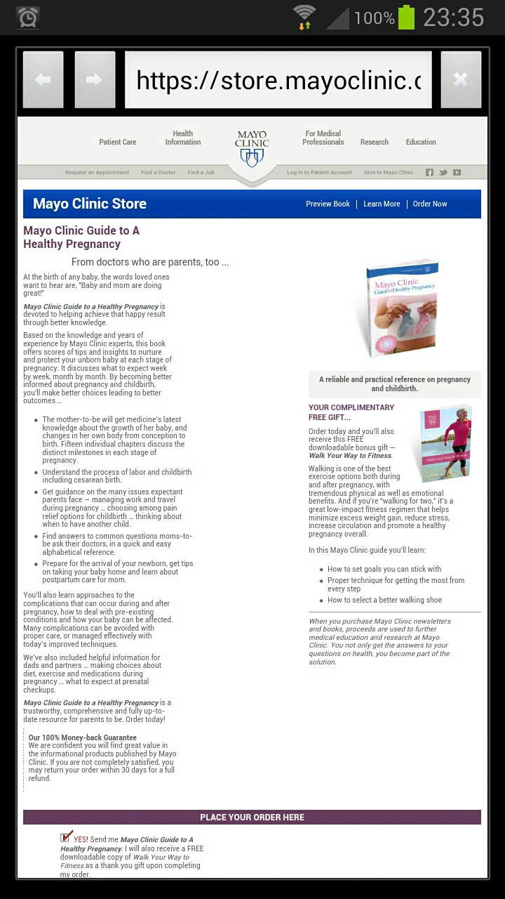 Mayo Clinic on Pregnancy Android medical app review