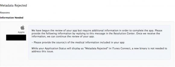 apple requesting information