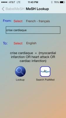 MeSH lookup crise cardiaque