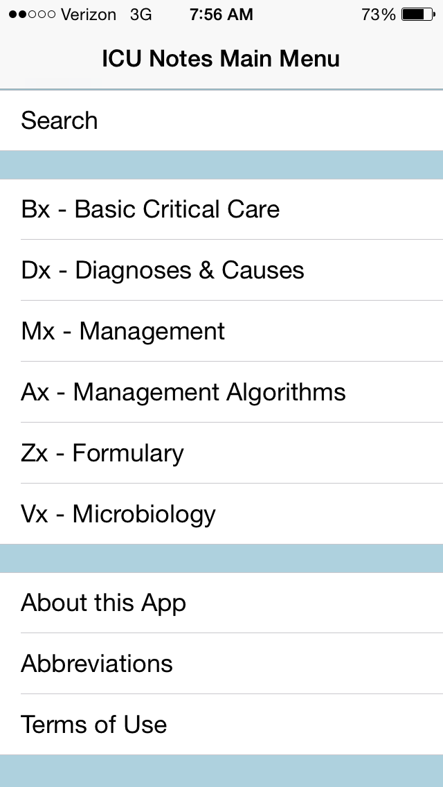 ICU Notes iphone and ipad medical app review