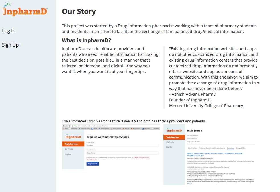 first custom based drug information app released by a pharmacy school - Drug Information Pharmacist