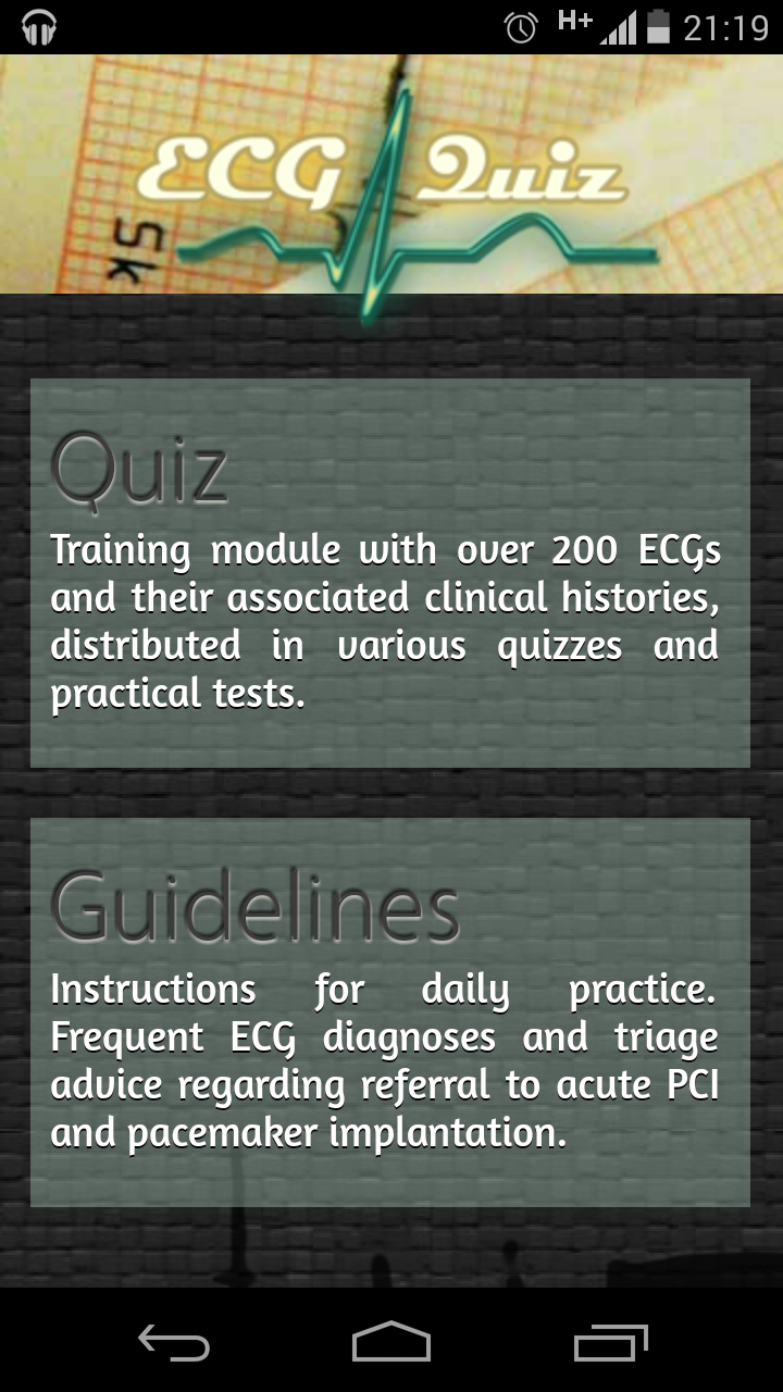 ECG Quiz for Android helps you practice 12 lead