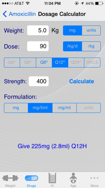 Dosage Calculator (PediQuikCalc)