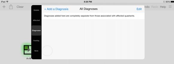 Proband, inserting diagnosis