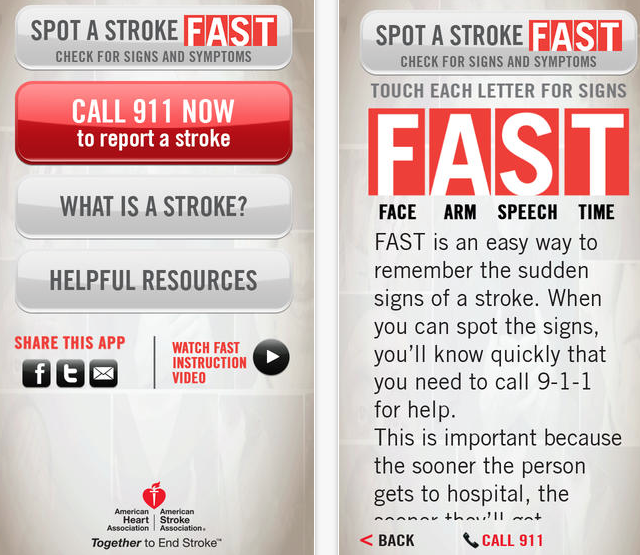 American Heart Association's free stroke recognition app is critical