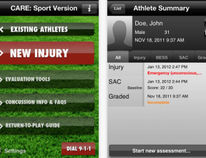 The best concussion screening app, based on the literature