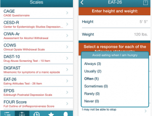Psychiatry app allows patients to answer questionnaires on physician iPhones