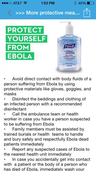 ebola apps