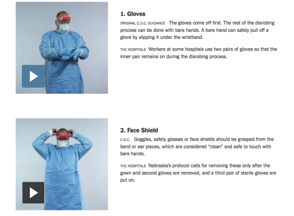 how to gown ebola