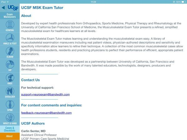 UCSF MSK Exam Tutor App Review