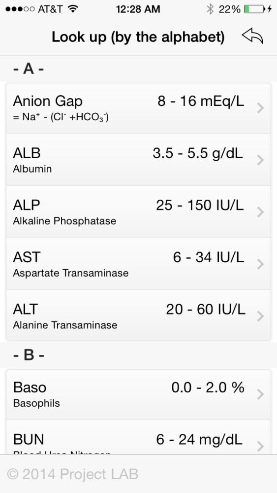 Medical App Review of Project Lab for iPhone & iPad