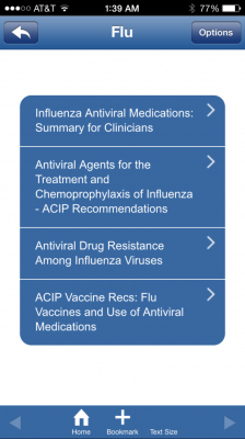 flu management app 2