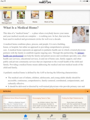 68335-3. Family life -- what is a medical home