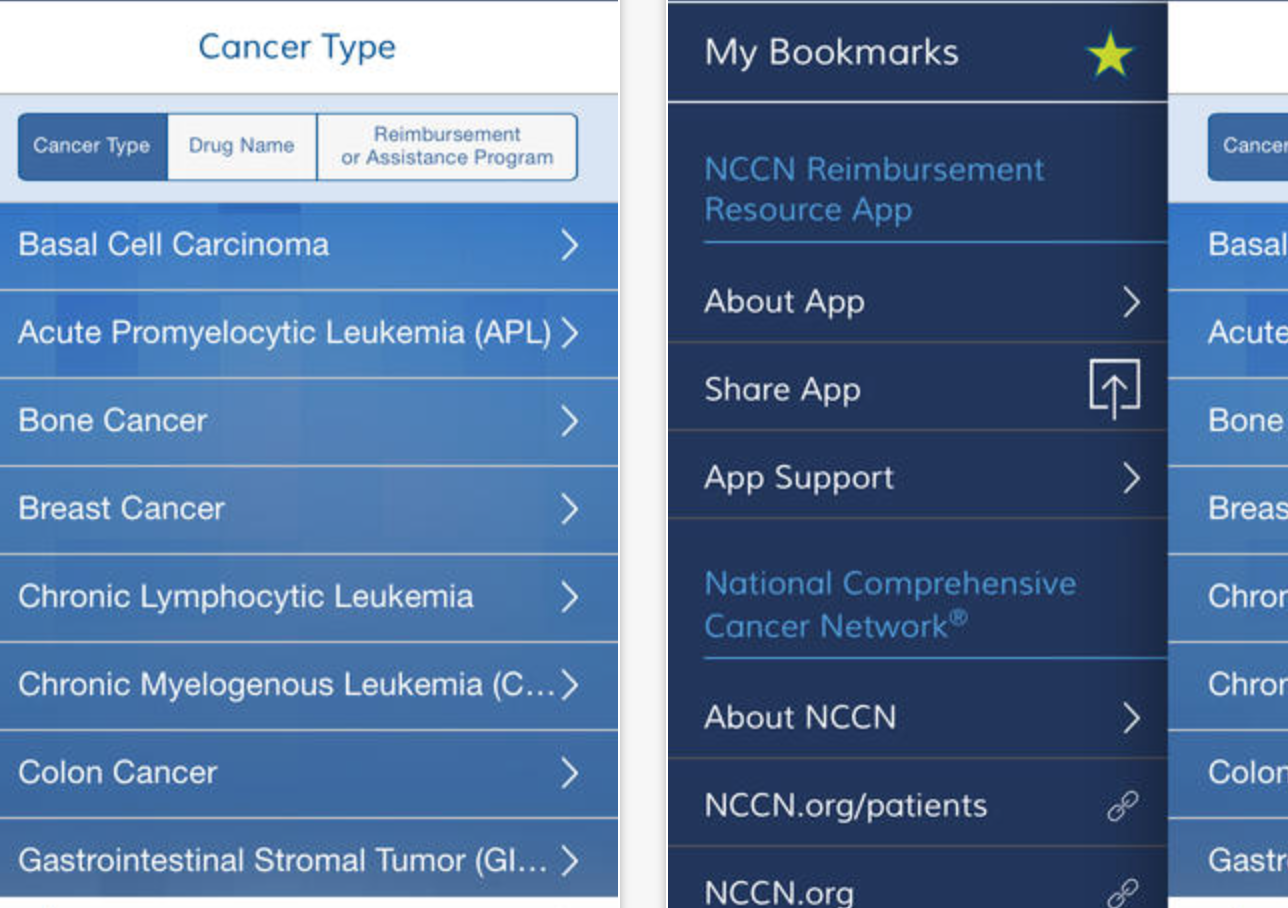 Review Of Nccn Guideline Medical Apps For Oncology On Iphone And Android