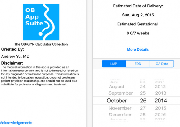 obstetrics apps free
