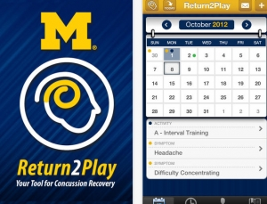 Review of University of Michigan's concussion management app, Return2Play