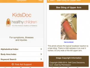 The KidsDoc app is an easy-to-use, powerful resource for parents