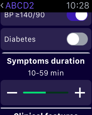 abcd2 score medical apps apple watch