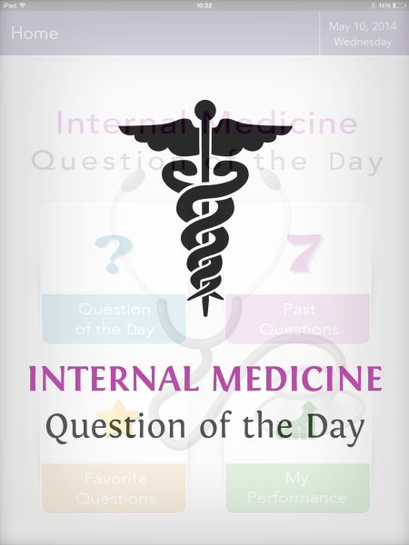 Review of the Internal Medicine Question of the Day app