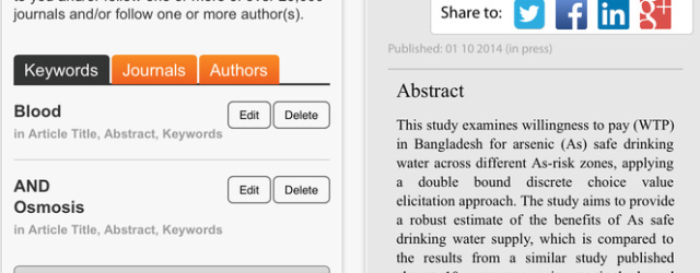 Review of Research Highlights by Elsevier, free app for staying current with research