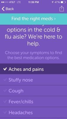 Iodine App Screen Shot - Cold