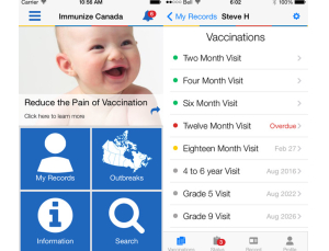 Using a medical app to improve vaccination compliance