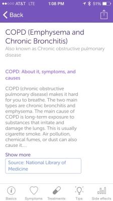 Iodine App Screenshot - COPD