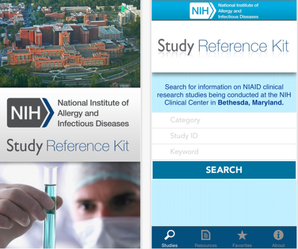 NIH allergy infectious disease app