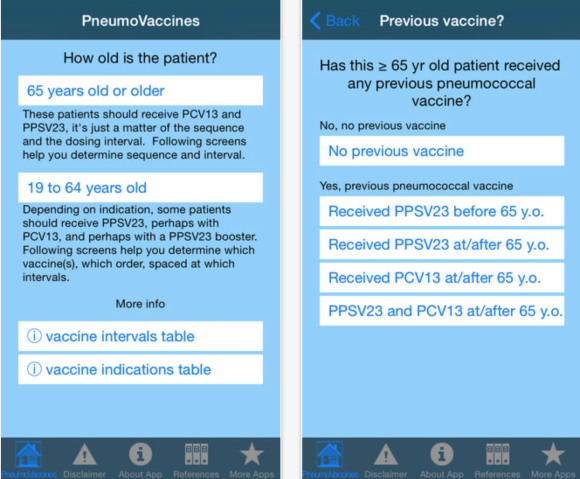 pneumococcal vaccine app