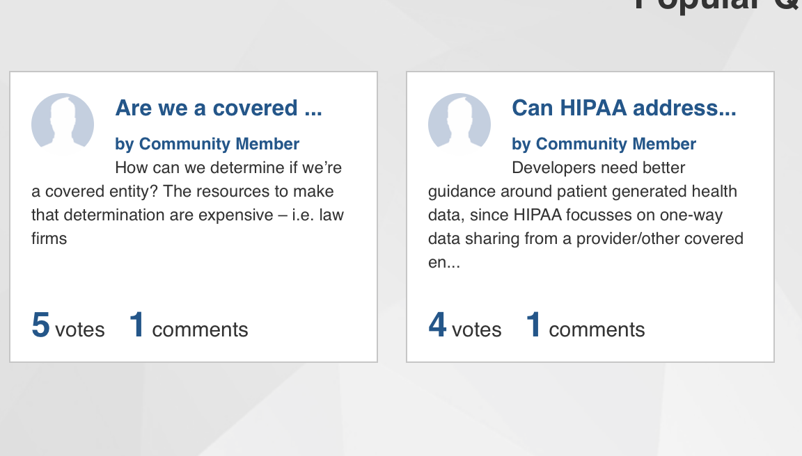 Dept of HHS is answering health app developers questions on