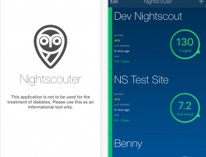 New continuous glucose monitoring app uses the Nightscout platform: Nightscouter App