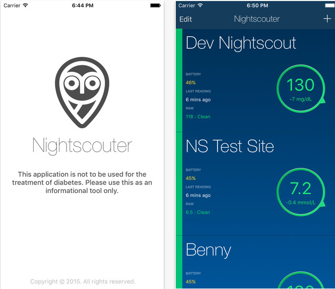 New continuous glucose monitoring app uses the Nightscout