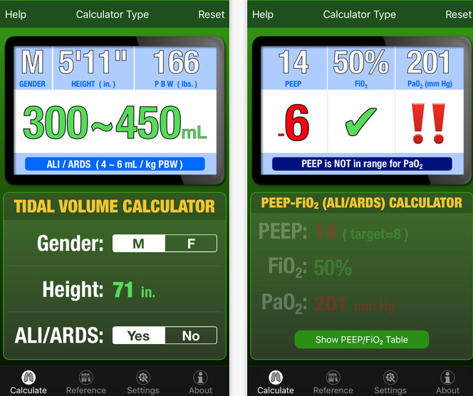 The Ventilator App Provides Evidence Based Tools for