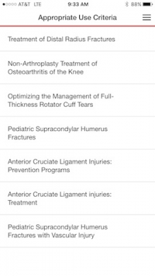 OrthoGuidelines App