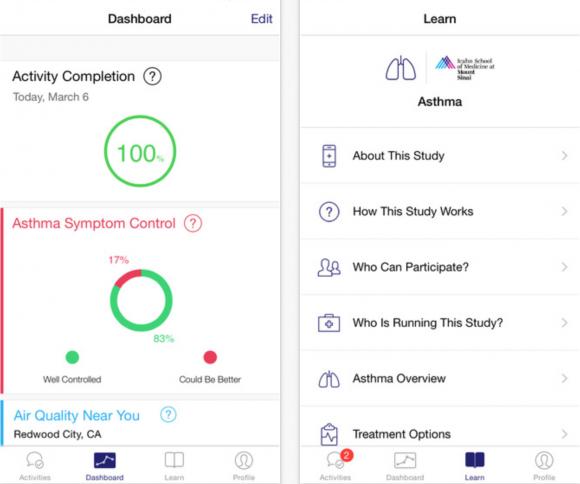 asthma researchkit app