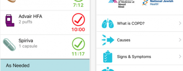 Review of COPD Navigator, a health app for patients managing pulmonary disease