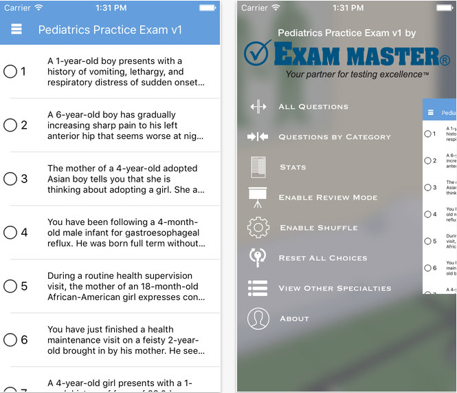 Review of Exam Master Pediatrics Board Review App - iMedicalApps