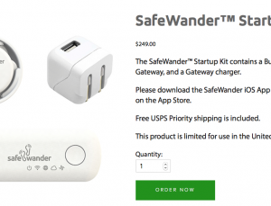 SafeWander wearable enables tracking of elderly to help prevent falls