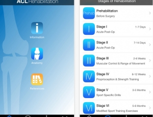 Review of ACL Rehab app, a rehabilitation app for knee injuries