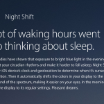 nightshift mode iOS 9.3 feature