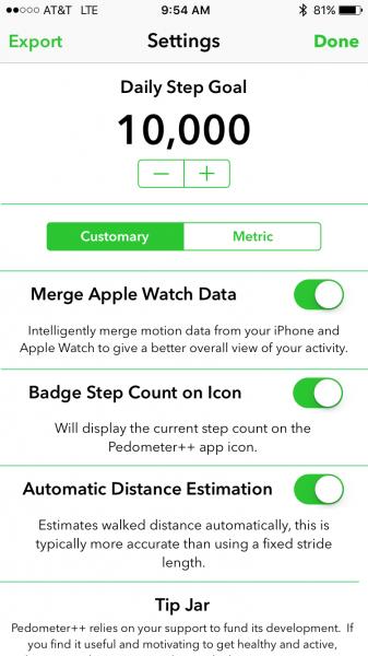 pedometer plus app count steps