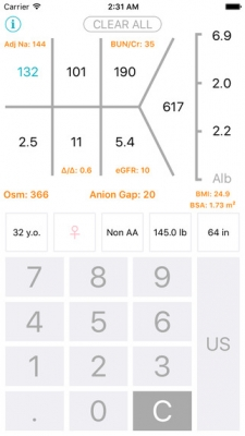 Chem 7 - Medical Calculator