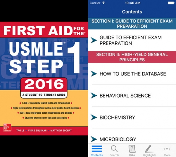 Review of First Aid for USMLE Step 1 2016, the app improves
