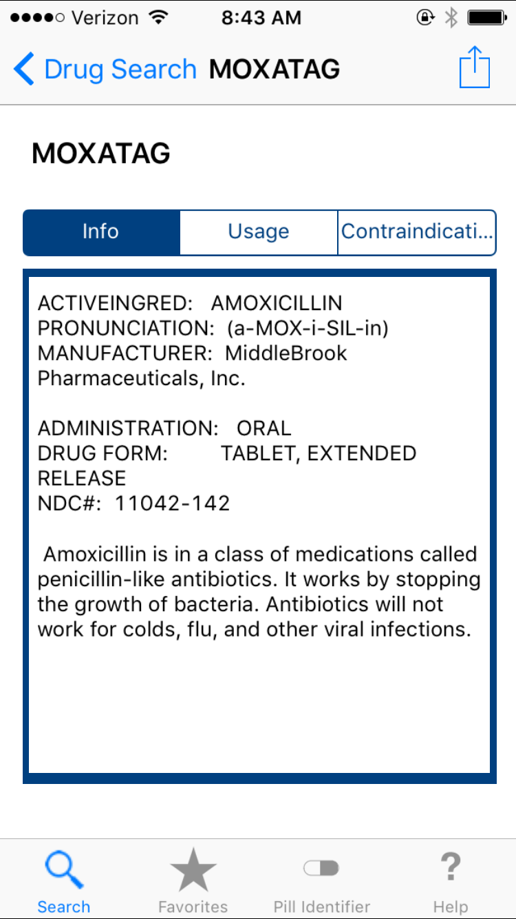 Unreliable drug info from Drugs and Medications app